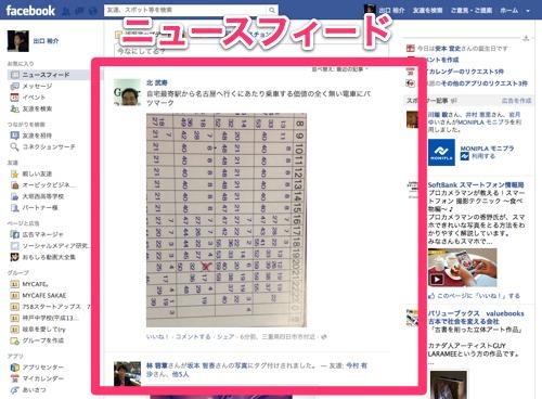 Facebookの「フィード」「フィー...